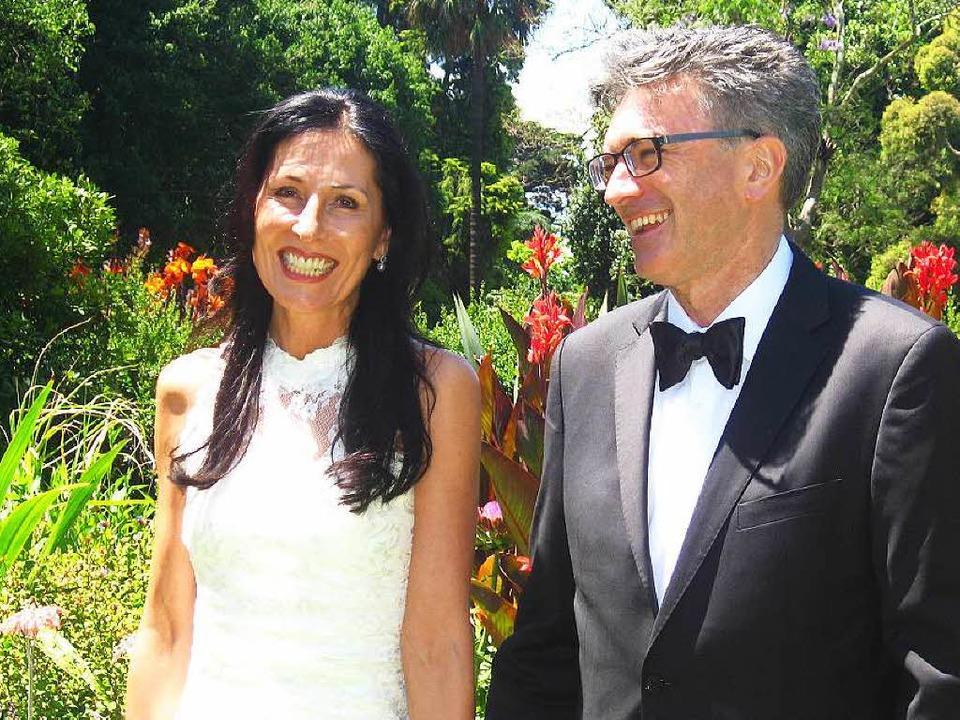 Helga Mayer-Salomon und Oberbürgermeis...in Melbourne in Australien geheiratet.  | Foto: privat