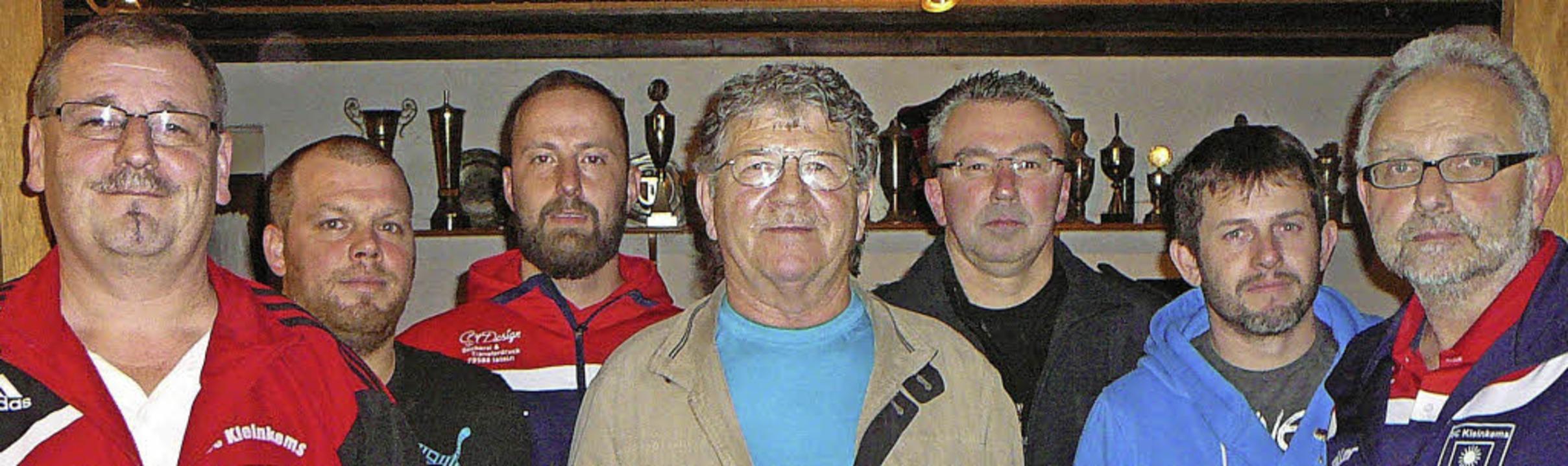 Die Neugewählten und Geehrten des Spor...er Ame und Wolfgang Eyrich (von links)    Foto: Rolf Mück