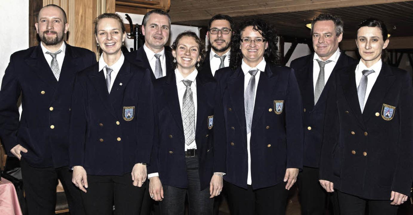 Der neue gewählte Vorstand der Stadtmusik Waldkirch.   | Foto: Fotos: Gabi Zahn