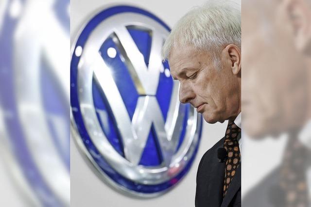 VW-Chef Müller sagt sorry