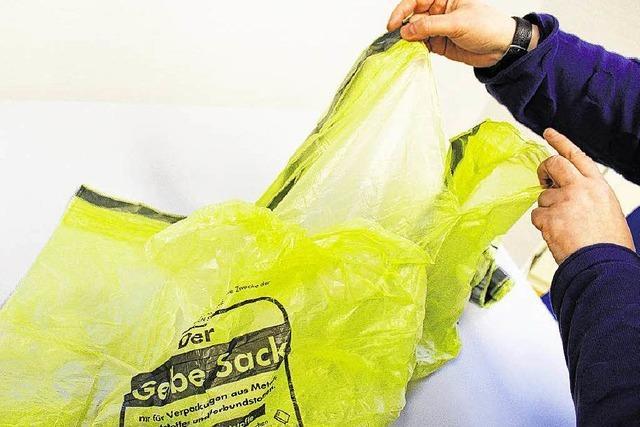 Miese Qualität der gelben Säcke sorgt für reichlich Ärger