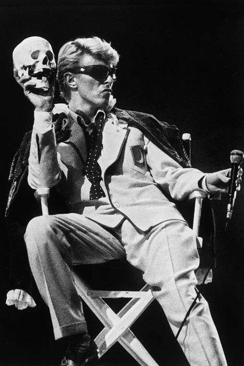 Bowie 1983 bei einem Auftritt in Belgien