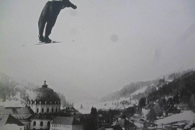 Große Skispringer waren am Start