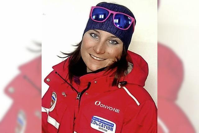 Skilehrerin in der Schweiz