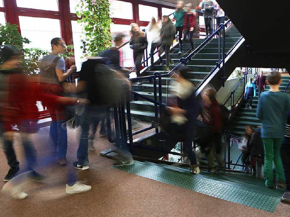 Schüler am Scheffel- Gymnasium haben Spaß am Lernen.  | Foto: Christoph Breithaupt