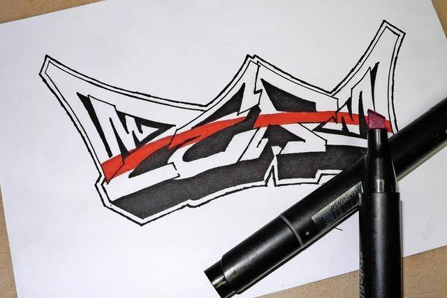 Wie aus feinen Linien ein knalliges Graffiti entsteht