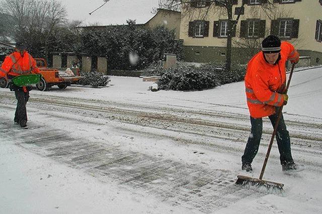 Bauhöfe auf Winter vorbereitet