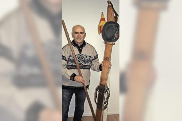 Walter Strohmeier skizziert in einem Vortrag die Skigeschichte im Schwarzwald