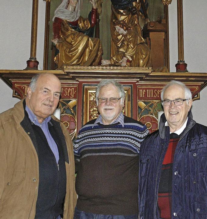 Der Obmann des katholischen Männerwerk...der Öflinger Pfarrkirche Sankt Ulrich   | Foto: Michael Gottstein