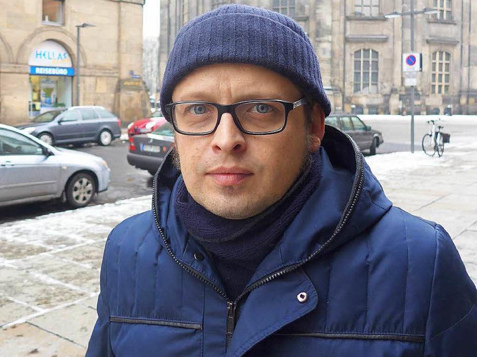 Michal Tomaszweski klagt, dass es kein normales Leben mehr gebe.  | Foto: Honnigfort