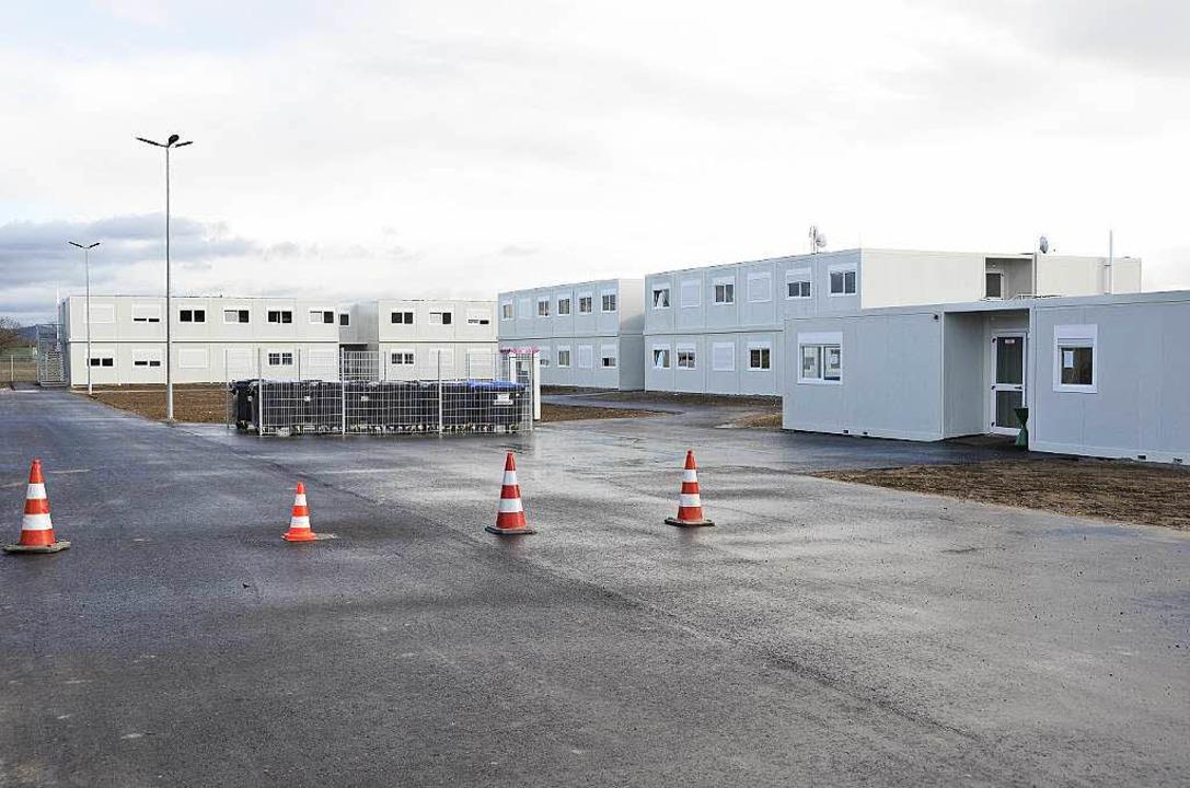Die Containersiedlung für die Unterbri...hen Stadtrand von Breisach ist fertig.  | Foto: Agnes Pohrt