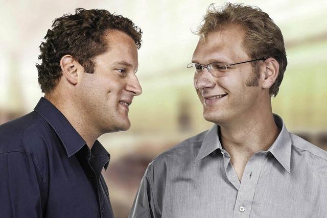 Marcin Grochowina und Felix Borel im Rehmann-Mujseum in Laufenburg/Schweiz