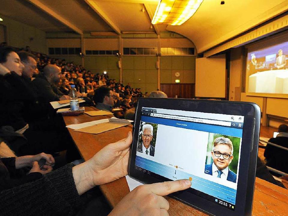 Live-Voting per App: Wer gewinnt hier an  Zustimmung?  | Foto: Thomas Kunz