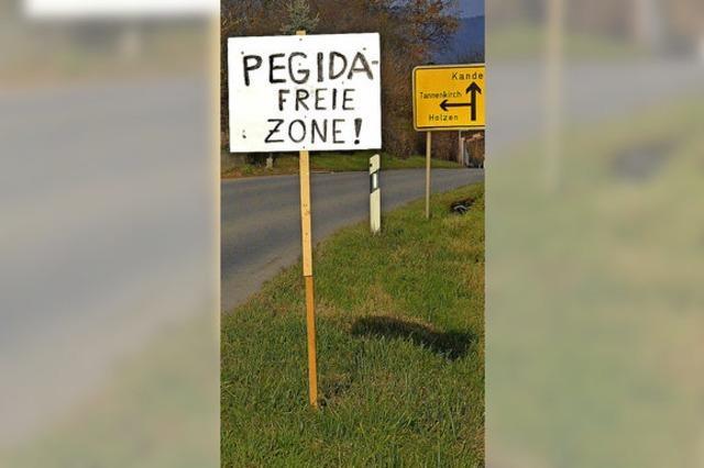 Pegida-Demo und Gegendemo in Basel