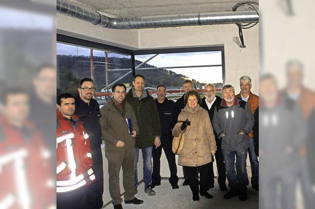 Besuch im neuen Feuerwehrgerätehaus