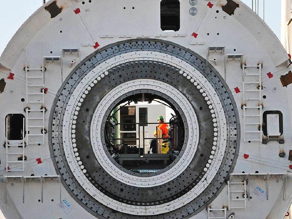 Großes Gerät: Ein Tunnelbohrer von Herrenknecht    Foto: Helmut Seller