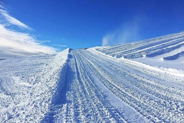 Snowboardcross-Weltcup: An der Piste wird gebastelt