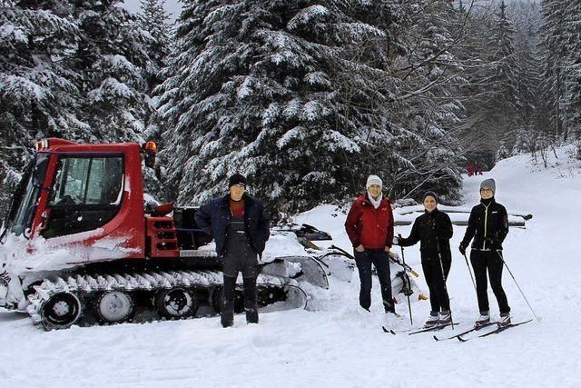 Freude bei Skiwanderern: Alle Loipen rund ums Lipple gespurt