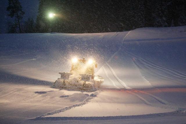 Schneemonster in der Nacht