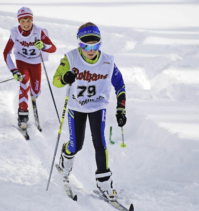 Pulvrig der Schnee, kalt aber nicht ei...ar beste Werbung für den Wintersport.   | Foto: junkel
