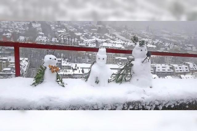 Schneemänner im Kleinformat