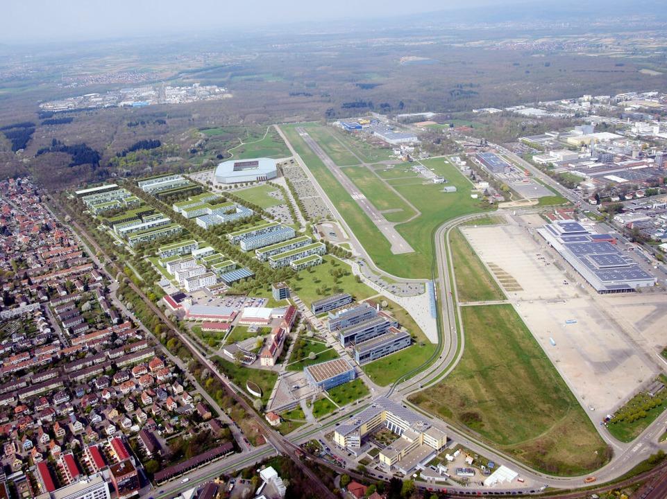 Die Visualisierung von HH Vision/Alber...u des Fußballstadions des SC Freiburg.    Foto: dpa