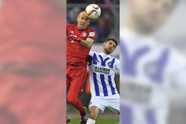 Der KSC schlägt den FC Bayern München