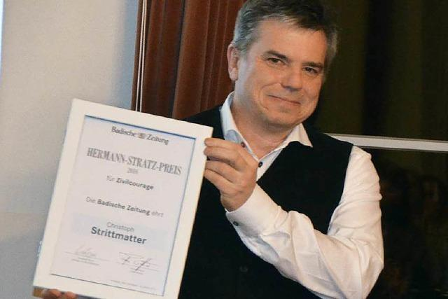 Christoph Strittmatter erhält Hermann-Stratz-Preis