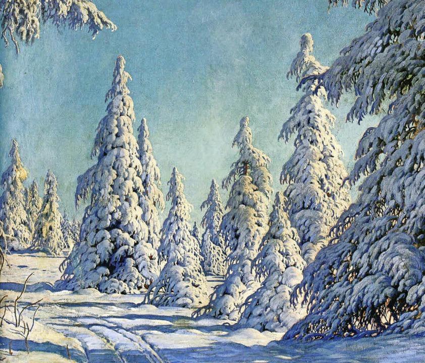 Verschneite Tannen am Stübenwasen:  Da...in Hinterzarten zu sehen (Ausschnitt).  | Foto: Katalog