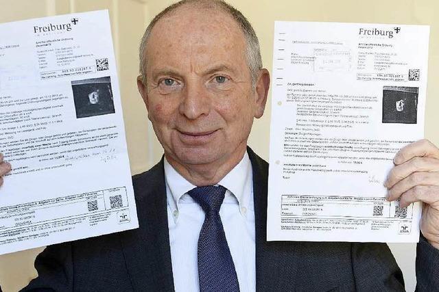 80 Temposünder in Freiburg erhalten Bußgeldbescheid gleich doppelt