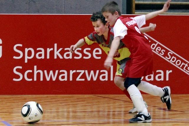 Futsal-Ballett nach dem Schneeschippen