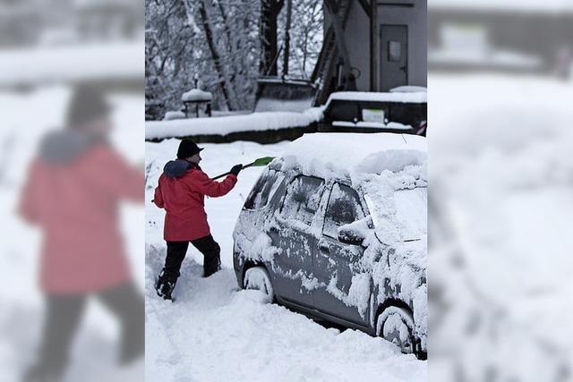 Dick eingepackt in Schnee