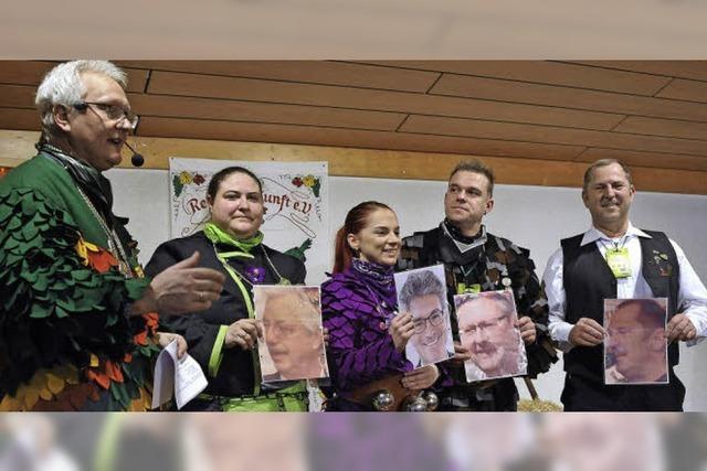 Bei der Ratssuppe in St. Georgen mussten Ersatz-Prominente erraten, wen sie darstellen