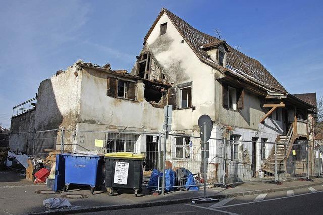 Alte Häuser in Altweil werden abgerissen