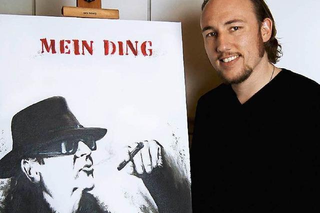 Warum ein Sexauer Udo Lindenberg malte – und sein Werk nun versteigert