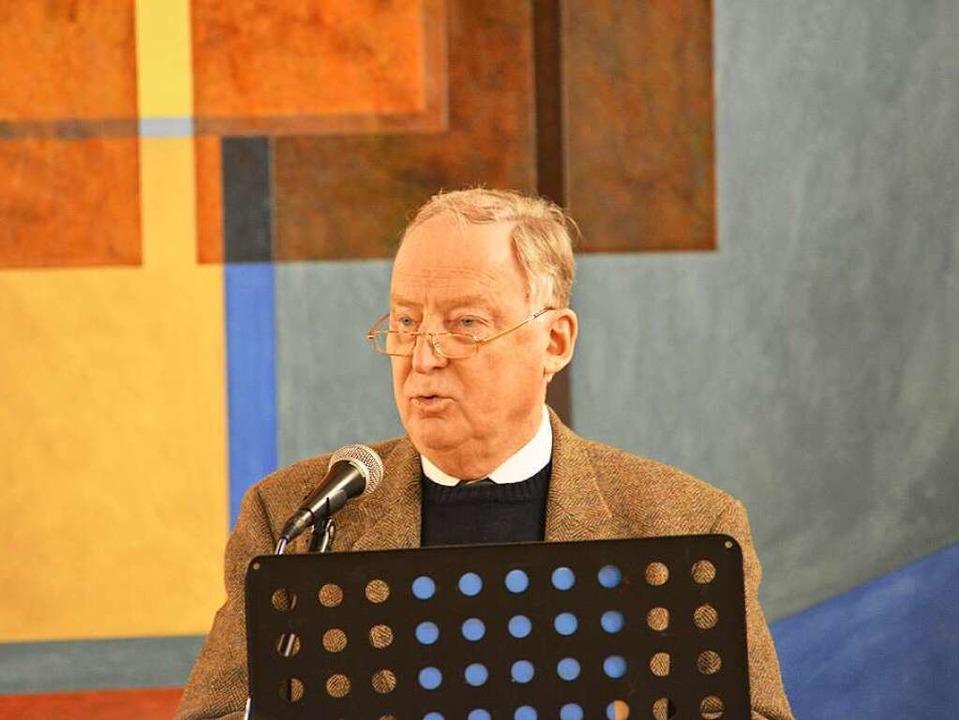 Alexander Gauland spricht in Breisach.  | Foto: privat