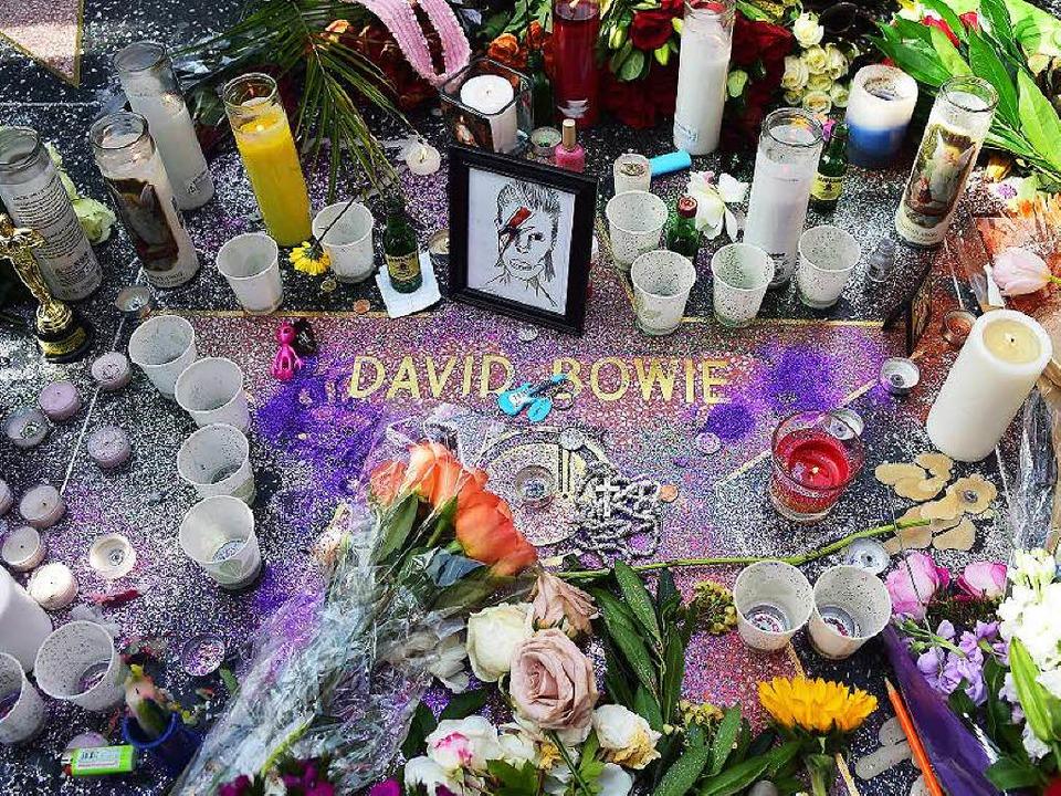 Diesen Stern hat Bowie sicher: den auf dem Walk of Fame in Hollywood  | Foto: AFP