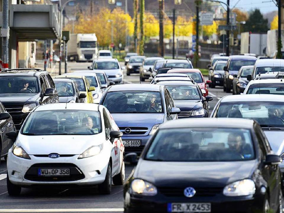 Freiwilliger Autoverzicht, wie er derz...iert wird, ist in Freiburg kein Thema.  | Foto: Ingo Schneider (Archiv)