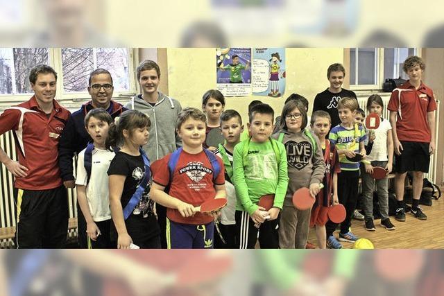 Jugend zeigt Interesse am Tischtennissport