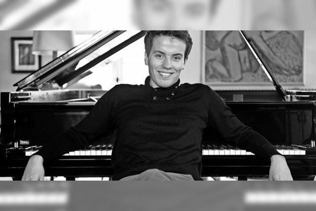 Der Pianist Moye Kolodin spielt im Gutshof Güntert in Sulzburg-Laufen