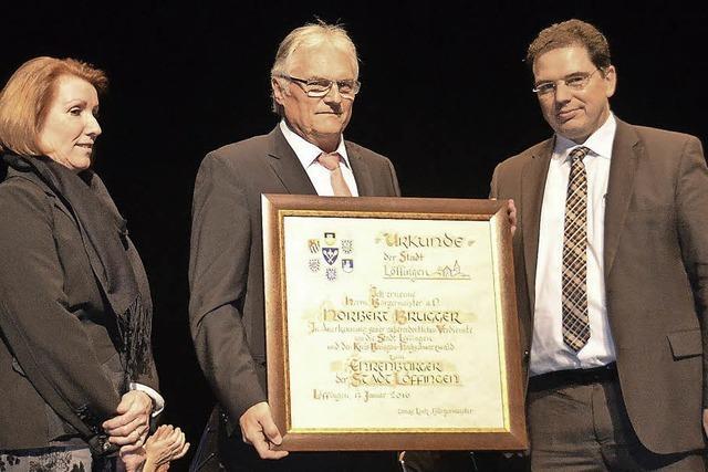 Altbürgermeister Norbert Brugger ist jetzt Ehrenbürger von Löffingen