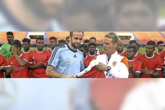 Lutz Hangartner, Dennis Bührer und Steffen Wohlfarth haben mit der Studenten-Nationalmannschaft in Indien gespielt