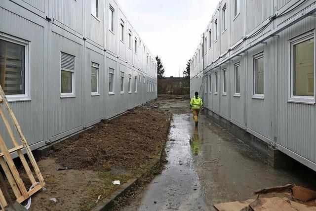 Neues Containerdorf für Flüchtlinge in Orschweier