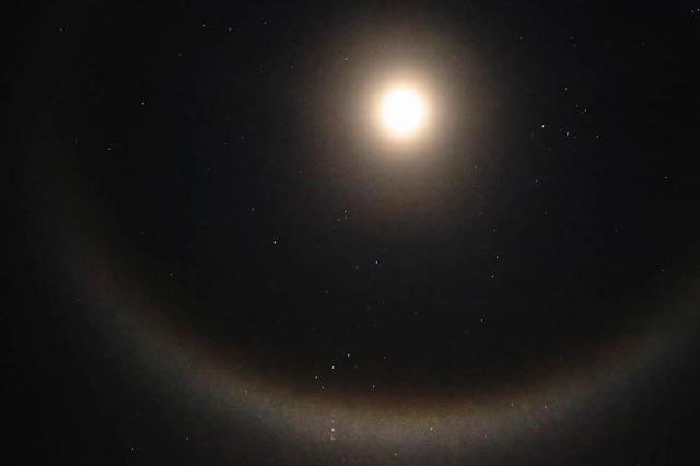 Mond mit Heiligenschein