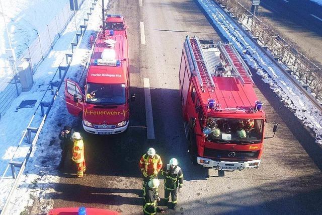 Brand im B31-Tunnel – Großeinsatz und Stau im Freiburger Osten