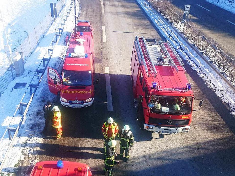 Brand im Schützenallee-Tunnel    Foto: Karl Heidegger