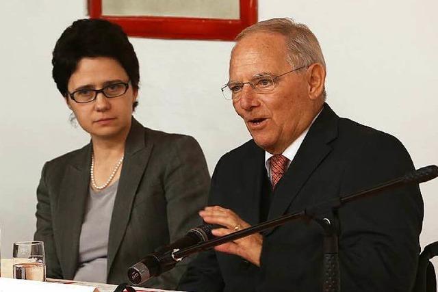 Schäuble fordert in Lahr schnelles Handeln in der Flüchtlingspolitik