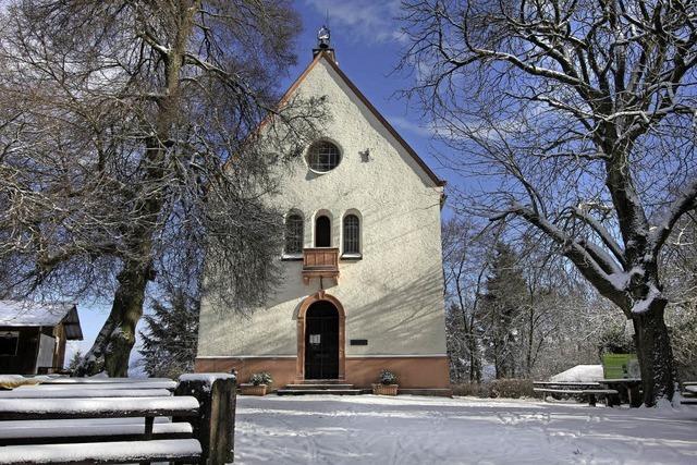 Katharinenkapelle im Schnee