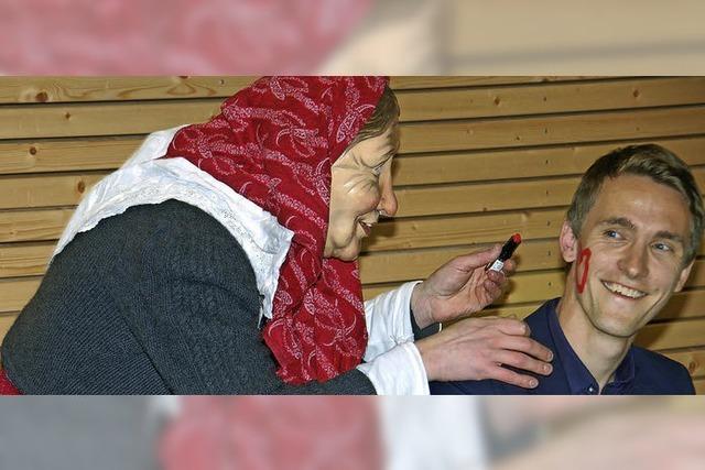 Der Bürgermeister mit Narrenmaske