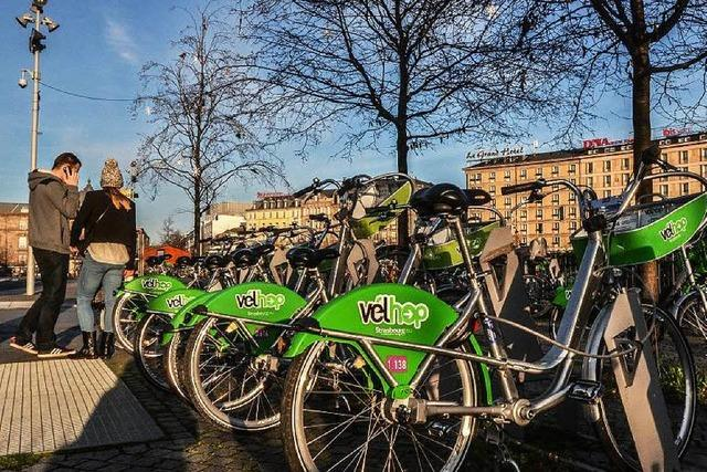 Fahrradverleih in Straßburg boomt